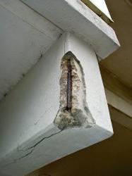 beton met vochtschade